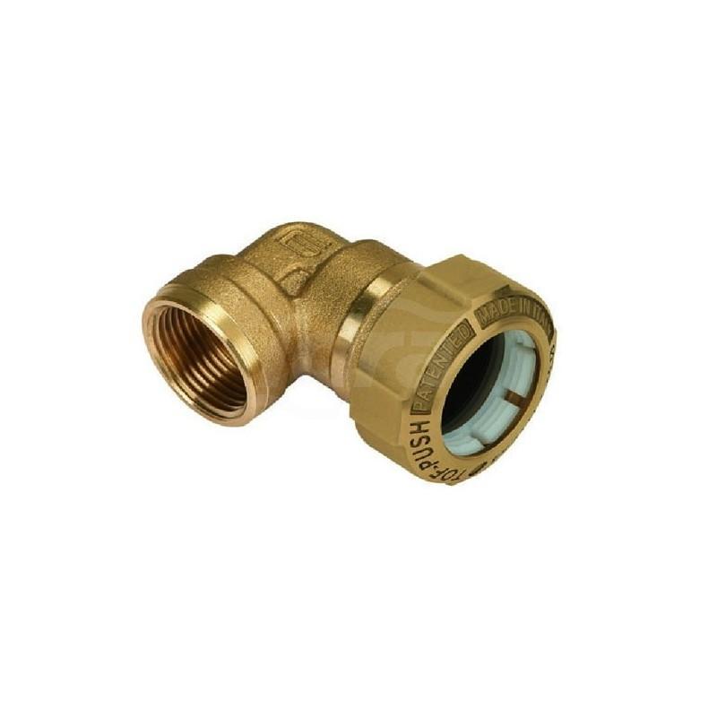 """Tof/g f gomito 90° f. ottone ø50x1.1/2""""f x pe 01070008P - Meccanici per tubi PED/PEHD"""