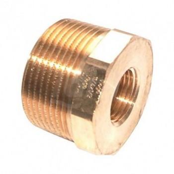 Manicotto di riduzione 1 1/4 x 1/2,mod.3241,bronzo/lucido 267582