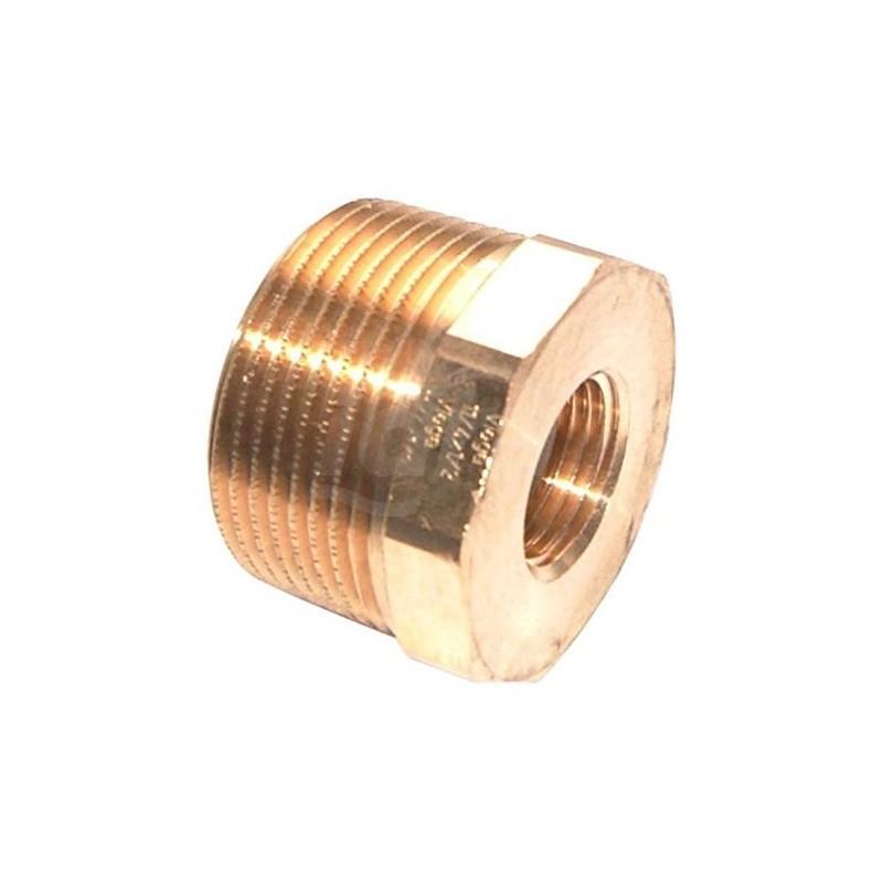 Manicotto di riduzione 1 1/4 x 1/2,mod.3241,bronzo/lucido 267582 - In bronzo filettati