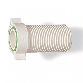 """Prolunga plastica bianco MF ø1""""x65 per scarico lavatrice TIR781900PB"""
