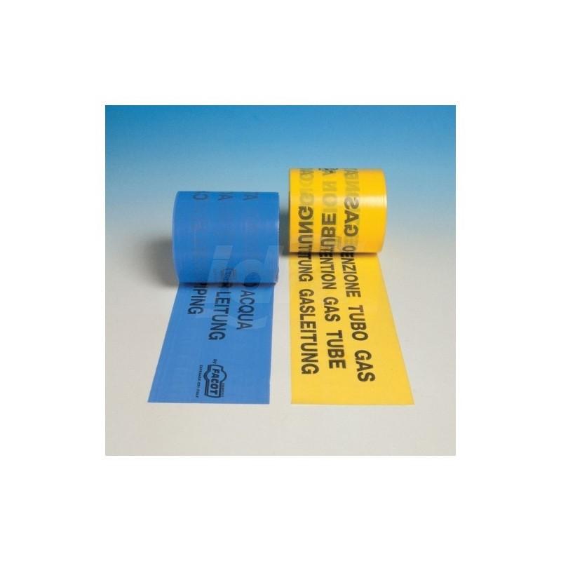 Nastri di segnalazione di tubazioni interrate TUBO GAS H.120mmx200m FACGASEC0120N