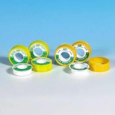 TEFLON Nastro in PTFE puro, non sinterizzato, di spessore costante 0,1 mm H.19x12mx0,1mm per gas FACTEFDIN1912F