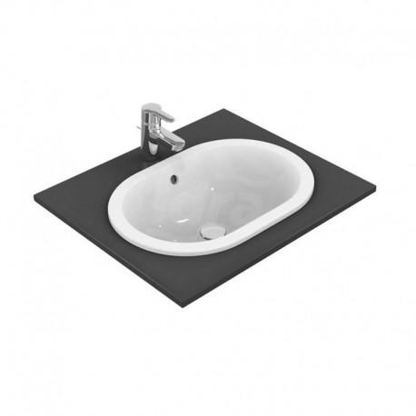 CONNECT lavabo soprapiano senza foro 55x38 bianco europa IDSE504701