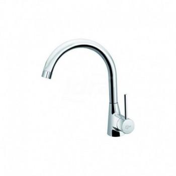 NORA Miscelatore rubinetto lavello d'appoggio + bocca erogazione a 360° cromato B9328AA - Per lavelli