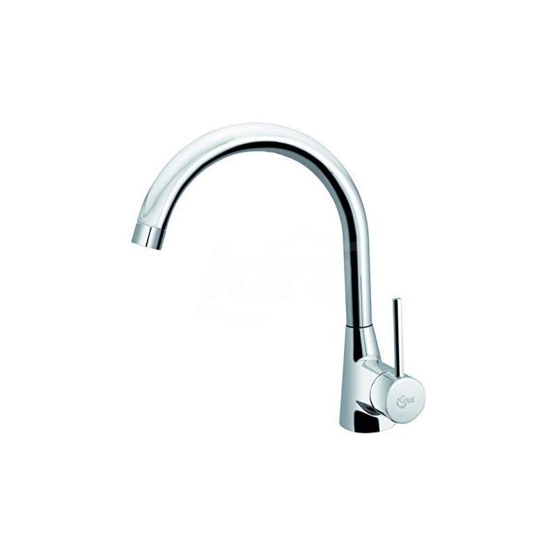 NORA Miscelatore rubinetto lavello d'appoggio + bocca erogazione a 360° cromato B9328AA