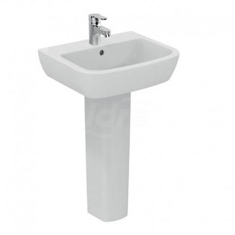 GEMMA 2 lavabo monoforo 55x45 bianco europa J521301 - Lavabi e colonne