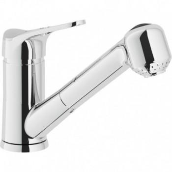 TIMIX Miscelatore rubinetto monocomando lavello + Doccetta estraibile 2G CR TX27117CR - Per lavelli