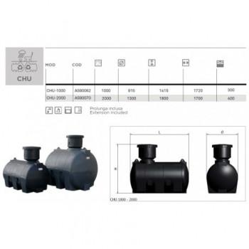 PLASTO CHU-1000 SERB. PE DA INTERRO 1000lt ELBA590062