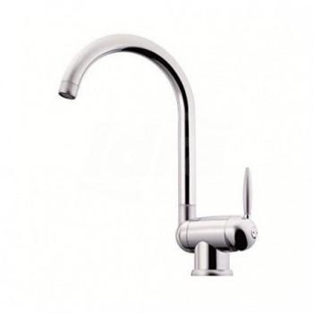 Miscelatore rubinetto per lavello cucina serie OVETTO da sottofinestra, bocca girevole, bocca ruotabile, aeratore anticalcare...