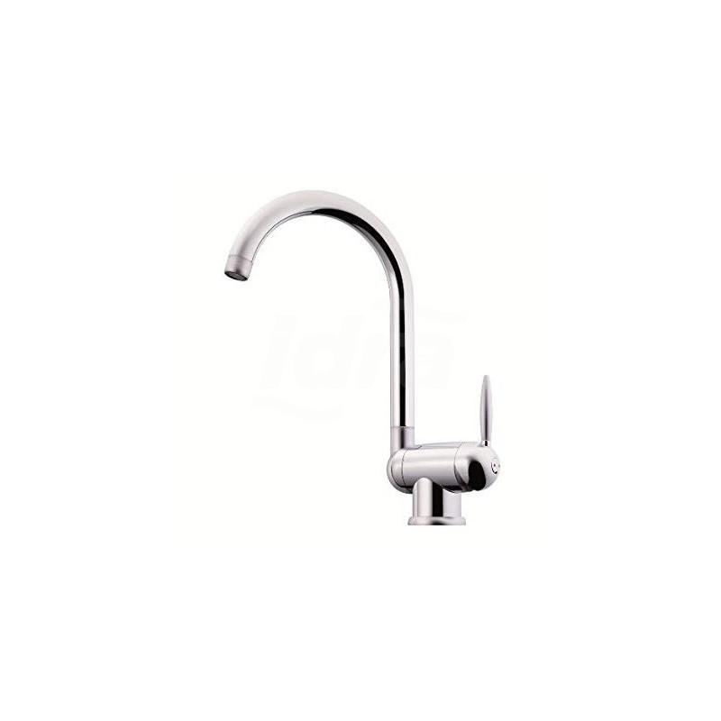 Miscelatore per lavello cucina serie OVETTO da sottofinestra, bocca  girevole, bocca ruotabile, aeratore anticalcare M 22X1, flessibli inox di  ...