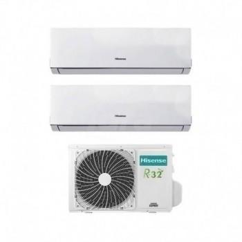Condizionatore Inverter Hisense New Comfort Dual Split 9000+12000 Btu R-32 A++ HISDJ25VE0AG+DJ35VE0AG+2AMW50U4RXA