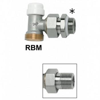 """564 - Detentore di regolazione ad angolo per tubo rame o polietilene, attacco standard rbm, serie """"jet-line"""", misura 1/2"""" RFS..."""