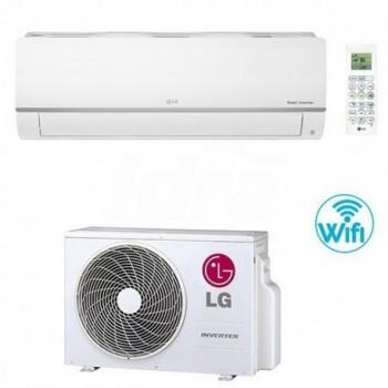 Climatizzatore Condizionatore LG Libero Plus R32 Monosplit Inverter Wifi 12000 btu Classe A++/A+ LGEPC12SQ.NSJ+PC12SQ.UA3