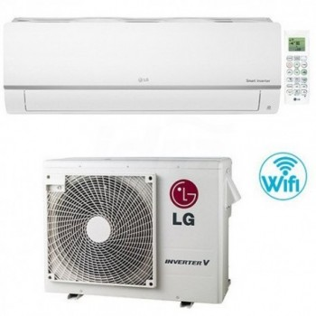 Climatizzatore Condizionatore LG Libero Plus R32 Wifi 18000 BTU PC18SQ INVERTER V NOVITÁ classe A++/A+ LGEPC18SQ.NSK+PC18SQ.UL2