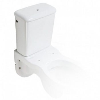 Cassetta di scarico esterna Rossari per wc sospeso, con alimentazione alta in porcellana PGUB42CRS02