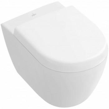 WC a cacciata compact senza brida sospeso, DirectFlush, scarico orizzontale, con SupraFix 3.0 e AQUAREDUCT 5606R001