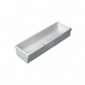Lavabo a canale senza troppo pieno. adattabile in batteria. installazione su mensole. smaltato sui 4 lati POG60844000