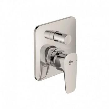 Miscelatore rubinetto per vasca da incasso monocomando con deviatore Cerafine D in ottone cromato A7189AA - Gruppi per vasche