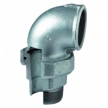 """Gomito con bocchettone 98 a sede conica m/f ø3/4"""" zinc. eo 09805004 - In ghisa malleabile zincati"""