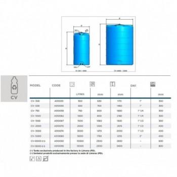 PLASTO CV-1000 SERB.PE CILINDR.VERT. 1000lt ELBA510062