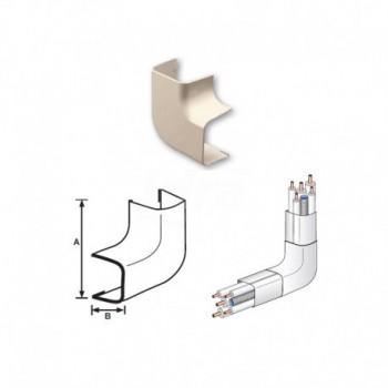 CURVA PIANA 90° PVC RAL9001 90x65mm 9896-115-08 - Canaline per tubi