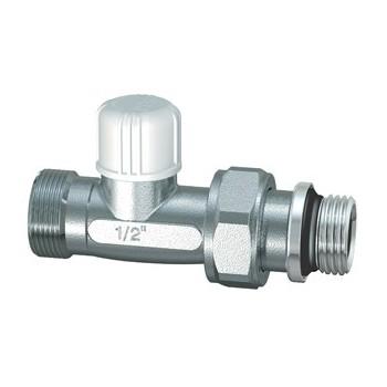 1305 - Detentore diritto cromato con attacco intercambiabile per tubo rame, plastica e multistrato RFR1305 38
