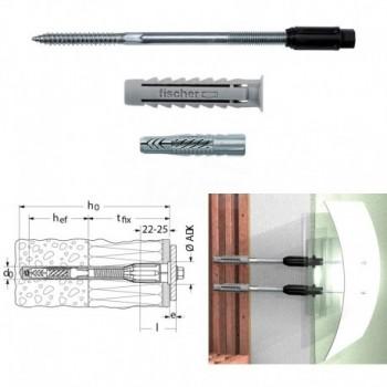 THERMAX 8/120 M6 fissaggio termicamente isolato per installazione distanziata in sistemi compositi di isolamento termico este...
