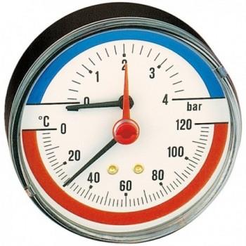 """503 Termomanometro, attacco posteriore 1/2"""", 0÷6 bar, 0÷120 °C 503060"""