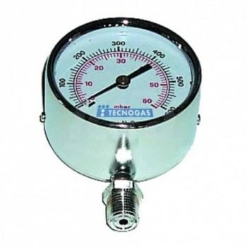 MANOMETRO RAD.0/100 mBAR D.80mm-D.3/8'' BP 00000006912