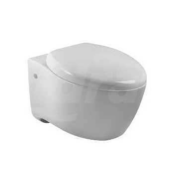 Via vaso sospeso comp. (58,5x37cm) con sedile. Bianco. KLR3594W-00