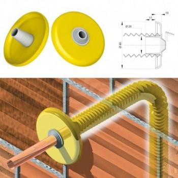 MAGICOVER - Foro ø 20 mm Rosone a doppia tenuta per tubazioni gas 9009PP20B3 - Accessori in plastica