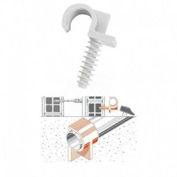 Collare rapido in plastica singolo tipo FR DN 14 mm, per tubi diametro 14-15 mm. supportino leggero e pratico GIA090500