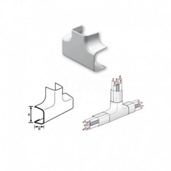 CURVA A TEE PVC 65x50mm NIC9801-200-08