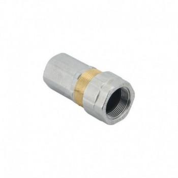 """E 101 Raccordo per tubo di ferro KRONOS giunto/femmina, certificato dal laboratorio DVGW per l' utilizzo con gas. Misura: 1 1/4"""" EFFE101N907P"""