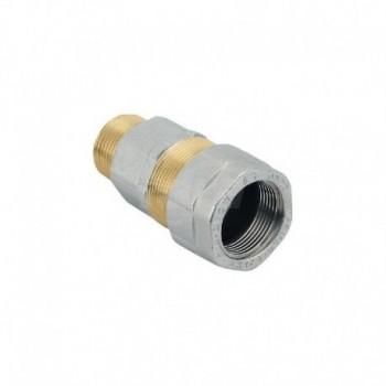 """E 102 Raccordo per tubo di ferro KRONOS giunto/maschio, certificato dal laboratorio DVGW per l' utilizzo con gas. Misura: 3/8"""" EFFE102N963P"""