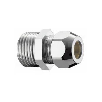 Nipples corto in ottone cromato con calotta bassa, L. 27 mm PIA0321B430CR