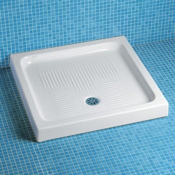 LIBIA piatto doccia 80x80x10cm PIL. ø60 bianco IDSJ086700