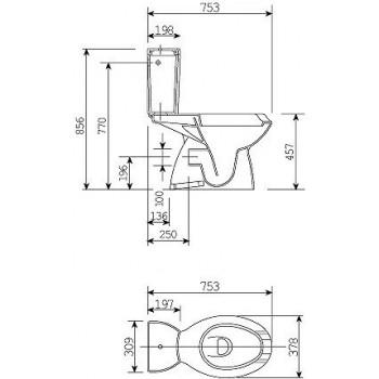 ATLANTIS wc MONOBL. 80x38 bianco IDSJ275200