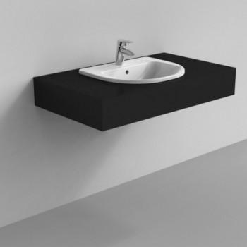 CRISTALLO lavabo SOPRAPIANO 55x47 bianco IDSJ447000