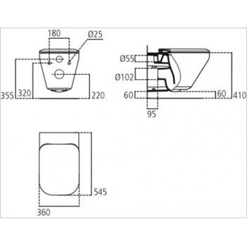 TONIC II sedile slim X wc bianco europa IDSK706401
