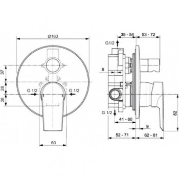 CERAMIX miscelatore monocomando incasso vasca / doccia CR IDSA6549AA