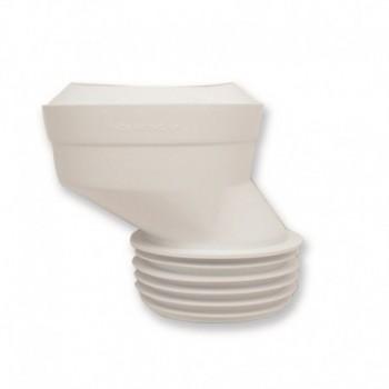 PROLUNGA WC PLAST. ECCENTRICA ø90/110x100 226801PB - Accessori in plastica