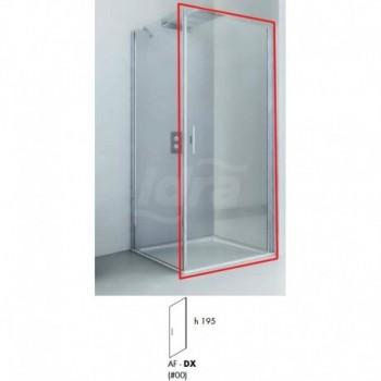 Porta LIGHT AB destra per box doccia. Misure 77-79 h. 195 trapsarente / argento REL0163043100