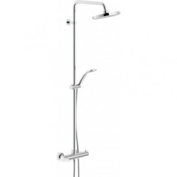 ABC Colonna doccia C/miscelatore esterno +SOFF. ø200mm CR NOBAB87130/30CR