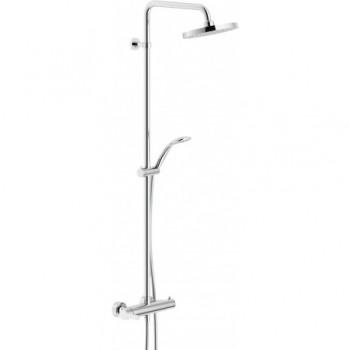 ABC Colonna doccia C/Miscelatore rubinetto esterno +SOFF. ø200mm CR AB87130/30CR - Gruppi per docce