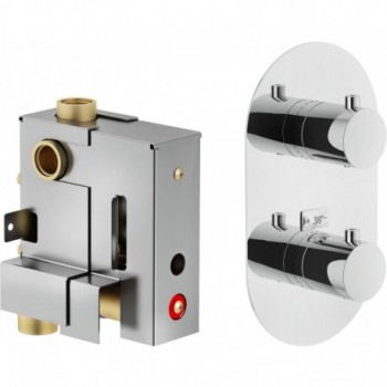 UP/LIVE P.esterno Miscelatore rubinetto TERM. incasso doccia 2VIE CR LV00102CR