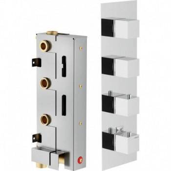 MIA P. esterno Miscelatore rubinetto termostatico incasso doccia 3VIE CR MI102103CR