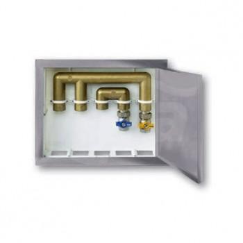 SCATOLA HOUSE BOX con COP. MET. 370x310x82 NICB9899-007-7001