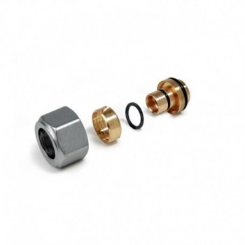R179AM raccordo adattatore per multistrato ø16x16,2/2,6mm R179MX016 - In ottone filettati
