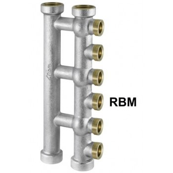 "COLL. COMPL. OTT. ø3/4""FF 4DER. M. RBM STD 00590500 - Collettori di distribuzione"
